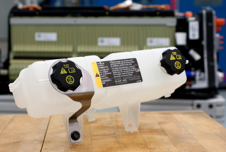 Nuevo depósito refrigerante para las baterías del Chevrolet Volt.